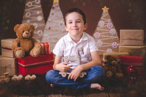 Rodinný fotoateliér v Kolíně - vánoční focení