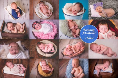 Novorozenecké focení v Rodinném fotoateliéru v Kolíně
