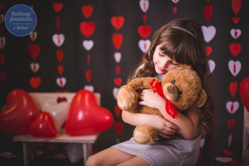 valentýnské focení v rodinném fotoateliéru v Kolíně